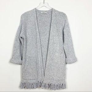 Madewell   Memento Fringe Open Cardigan Sweater